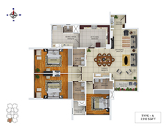 Floor Plans of gold tower kochi