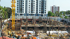 Project Live Status of joyalukkas gold tower