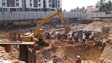 Project Live Status of gold tower near palarivattom vazhakkala