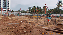 Project Live Status of gold tower near palarivattom kochi
