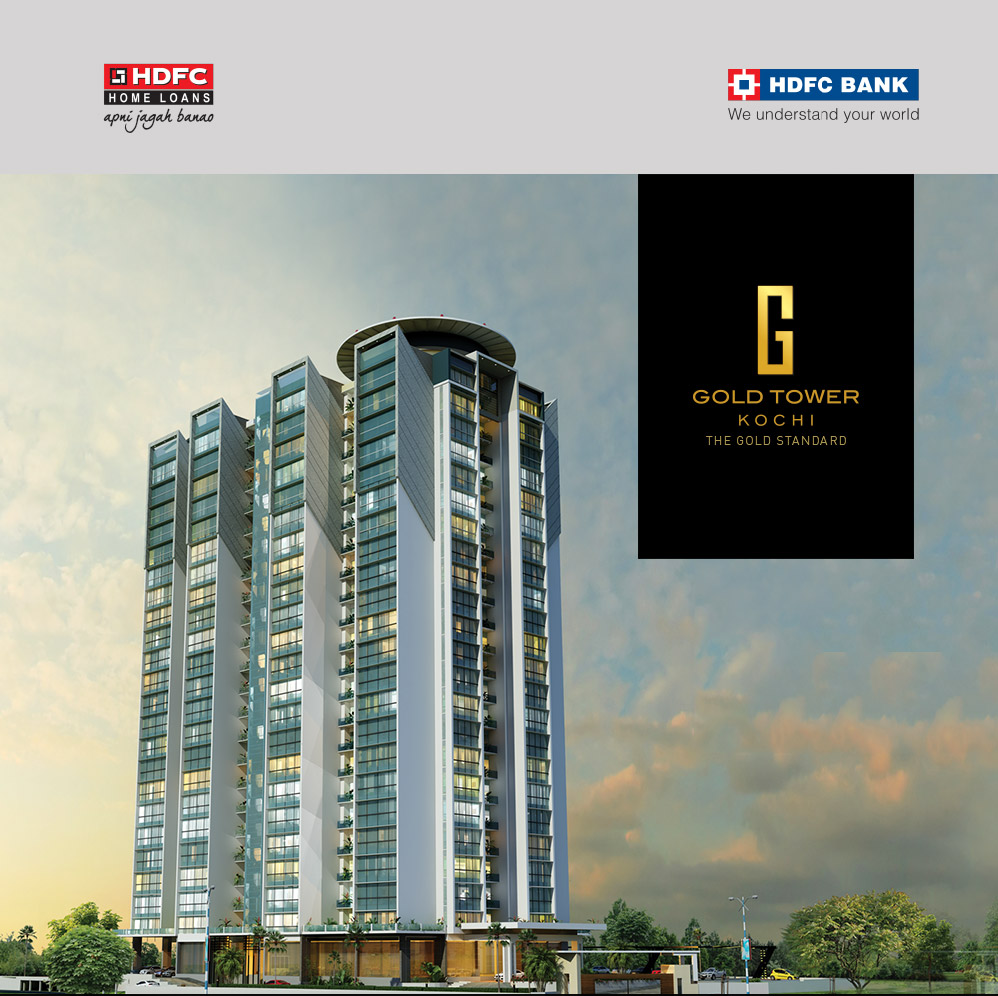 Image of  Joyalukkas developers - Gold tower apartment  kochi with hdfc bank home loan logo